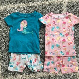 2 sets Gymboree pajamas size 18-24
